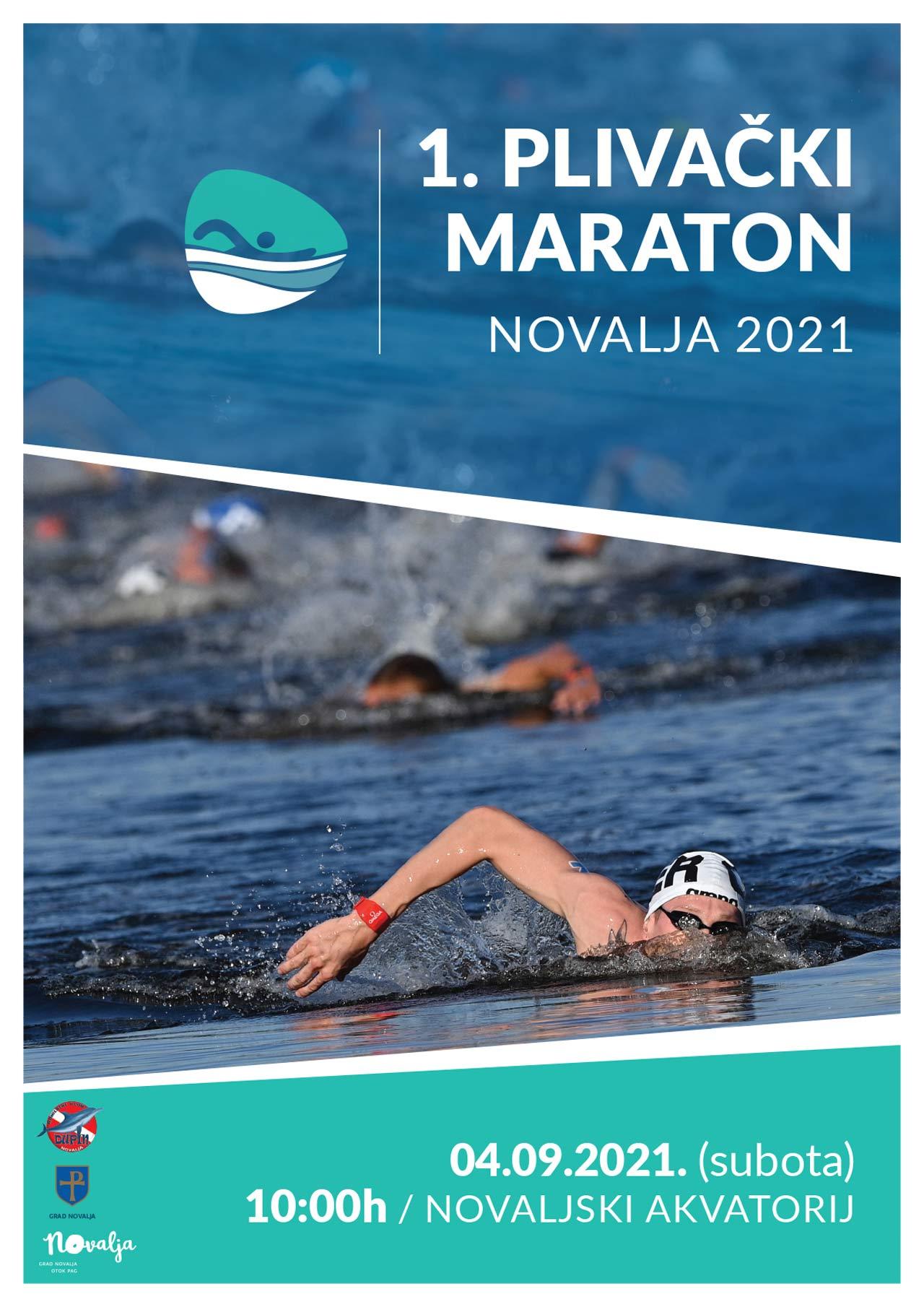 1. Plivački maraton Novalja 2021